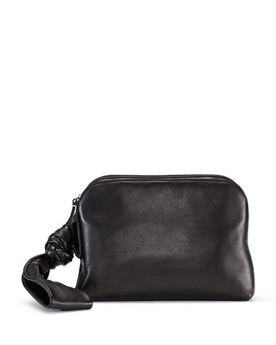 8774480b13f Quick Look. THE ROW · Zip-Top Leather Wristlet Bag