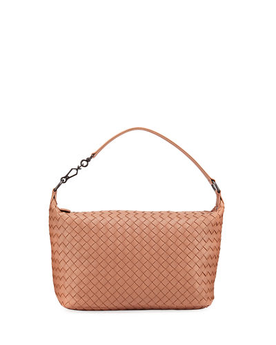 Small East-West Zip Hobo Bag