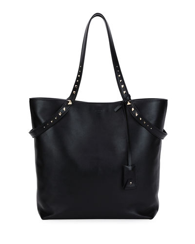 Valentino Garavani Lovestud Leather Tote Bag