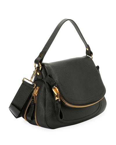 Jennifer Medium Grained Leather Saddle Bag