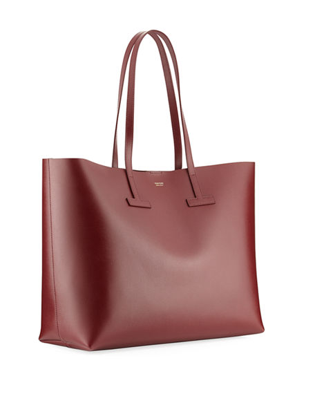 9274023f71 TOM FORD Saffiano Medium Leather T Tote Bag | Neiman Marcus