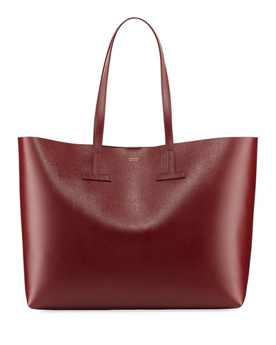 Saffiano Medium Leather T Tote Bag