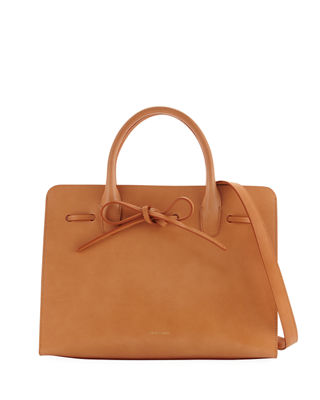 Drawstring Vegetable-Tanned Sun Tote Bag