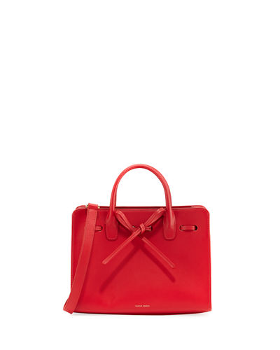 Sun Mini Calf Leather Tote Bag