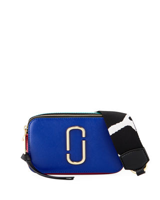 Snapshot Small Leather Shoulder Bag in Multicoloured