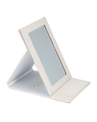 Havana White Folding Mirror