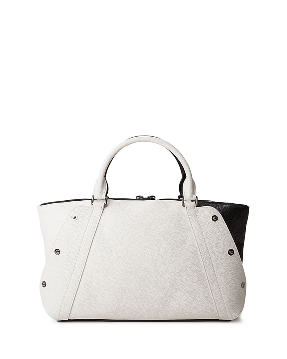 Aimee Small Bicolor Leather Satchel Bag