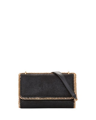 Falabella Shaggy Deer Faux Leather Shoulder Bag - Black