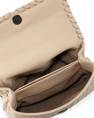 Image 2 of 4: Baby Olimpia Intrecciato Leather Shoulder Bag