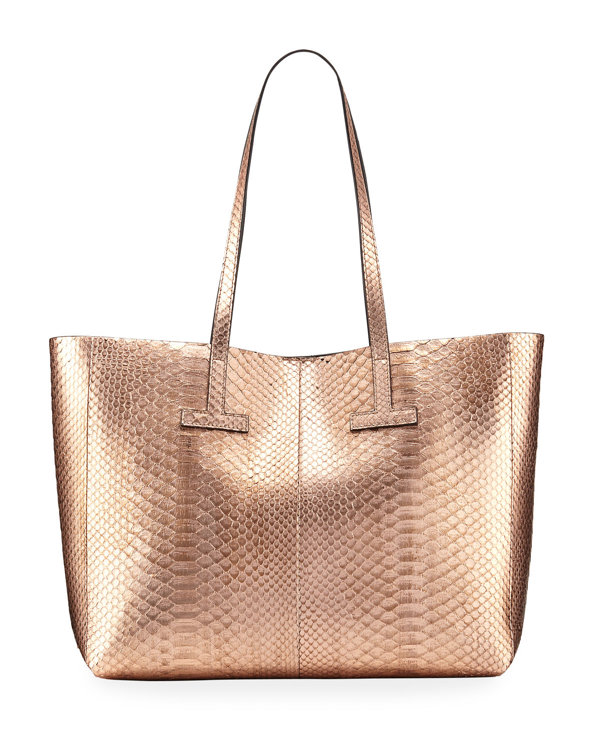 Small Metallic Python T Tote Bag
