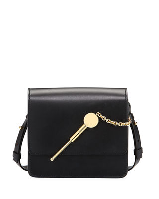 Sophie Hulme Cocktail Stirrer Small Leather Saddle Bag