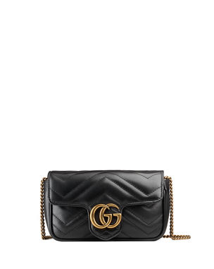 7765c106 Gucci GG Marmont Matelasse Leather Super Mini Bag