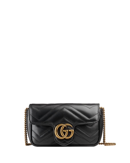 1b78ca376c586 Image 1 of 4  GG Marmont Matelasse Leather Super Mini Bag