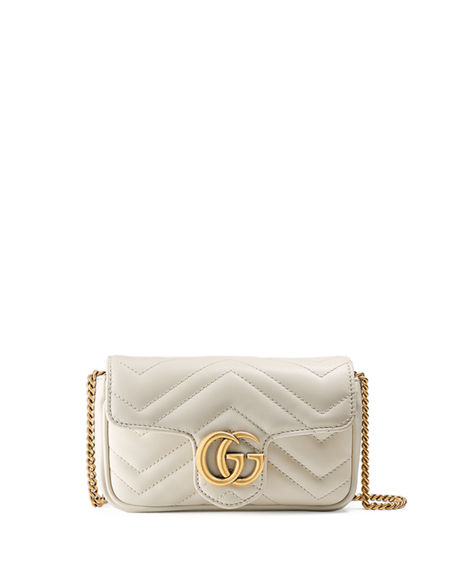 Image 1 of 4: Gucci GG Marmont Matelasse Leather Super Mini Bag