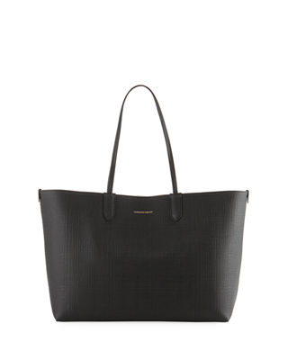 Image 1 of 2: Lino Medium Embossed Leather Tote Bag