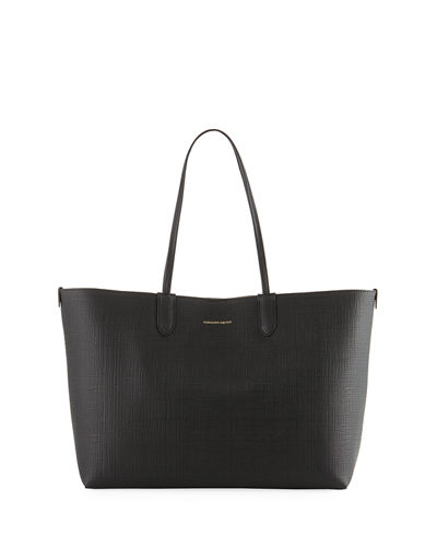 Lino Medium Embossed Leather Tote Bag