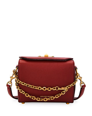 BOX 19 SILKY LEATHER SATCHEL BAG W/ REMOVABLE CHAINS