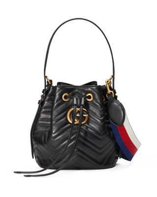 Gg Marmont 2.0 Matelasse Leather Bucket Bag - None in Black