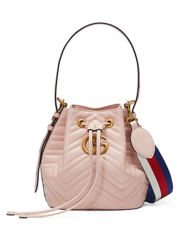 GG Marmont Quilted Leather Bucket Bag