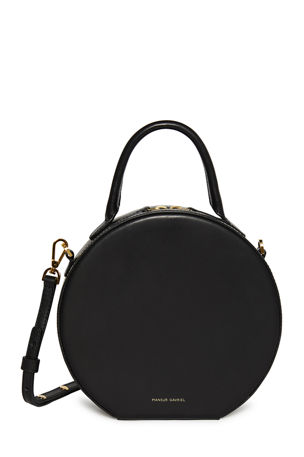 Mansur Gavriel Circle Vegetable-Tanned Leather Crossbody Bag