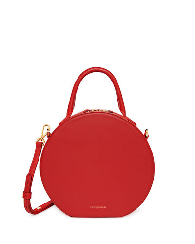Mansur Gavriel Leather Circle Crossbody Bag