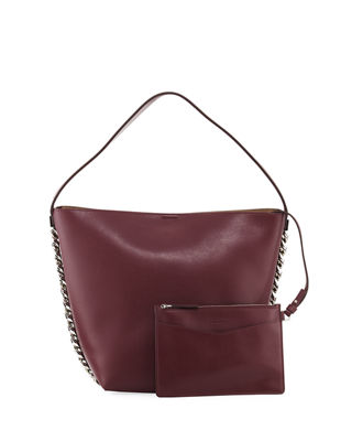 Givenchy Infinity Calf Leather Chain Bucket Bag