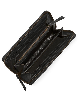 Image 2 of 2: Classic Continental Lambskin Zip-Around Wallet