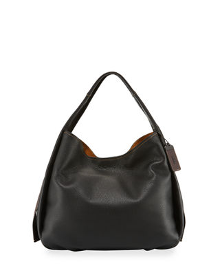 Image 1 of 4: Pebbled Leather Hobo Bag