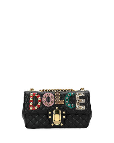 Dolce & Gabbana Lucia Dolce Embellished Shoulder Bag