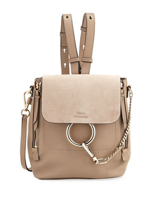 Faye Small Leather/Suede Backpack by Chloe