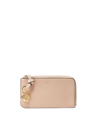 Chloe Alphabet Medium Zip-Around Coin Purse w/ Card