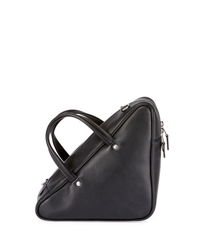 Triangle Duffel Small Leather Bag
