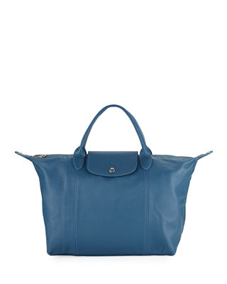 Image 1 of 3: Le Pliage Cuir Medium Handbag