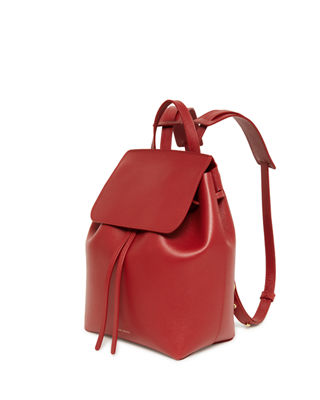 Image 2 of 3: Mini Saffiano Leather Backpack