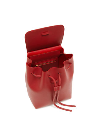 Image 3 of 3: Mini Saffiano Leather Backpack
