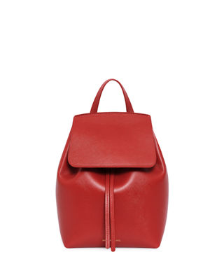 Image 1 of 3: Mini Saffiano Leather Backpack