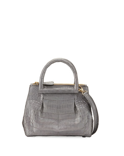 Nancy Gonzalez New Mini Plisse Crocodile Crossbody Bag