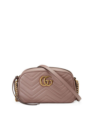 SMALL GG MARMONT 2.0 MATELASSE LEATHER CAMERA BAG - BEIGE