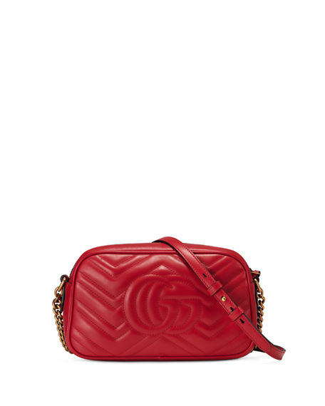 Image 3 of 4: Gucci GG Marmont Small Quilted Camera Bag