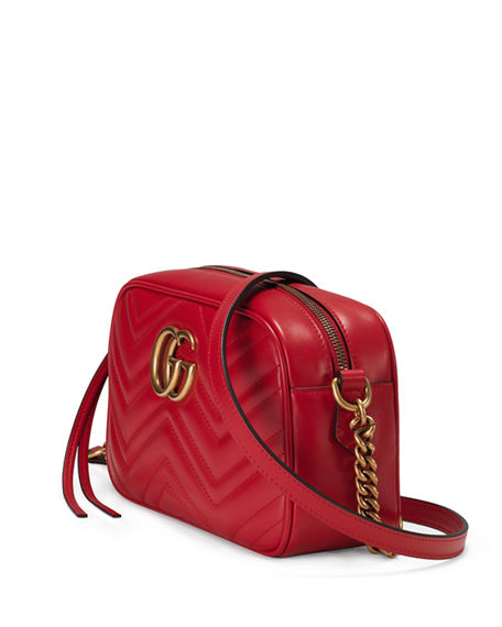 Image 4 of 4: Gucci GG Marmont Small Quilted Camera Bag