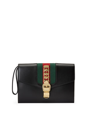 Gucci Sylvie Small Wristlet Clutch Bag