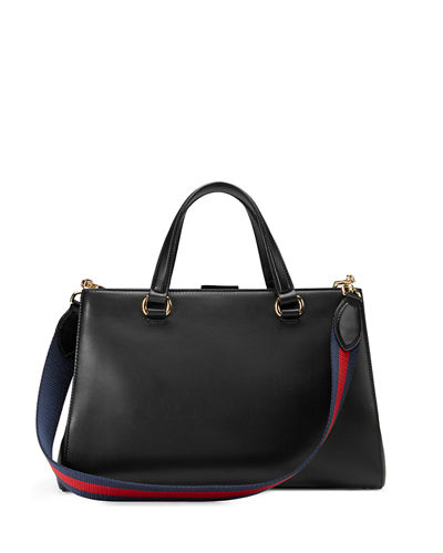Sylvie Large Leather Tote Bag