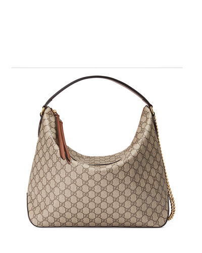 Gucci Linea A Large GG Supreme Canvas Hobo Bag