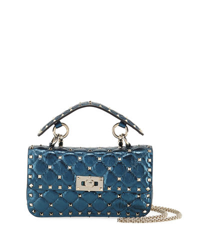 Rockstud Spike Small Top-Handle Bag