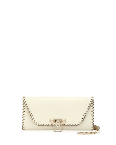 Valentino Garavani Demilune Vitello Leather Shoulder Bag