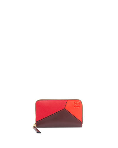 Puzzle Medium Colorblock Zip-Around Wallet