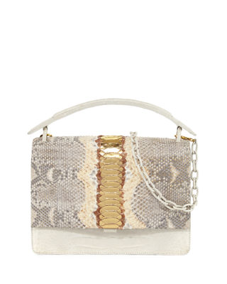 PYTHON MEDIUM TOP HANDLE BAG