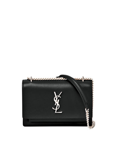 Sunset Monogram Small Calf Leather Wallet on Chain