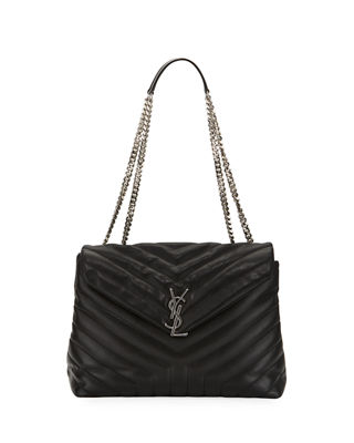 Image 1 of 2: Loulou Monogram Medium Chain Shoulder Bag