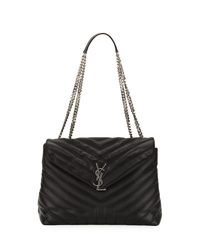 Loulou Monogram Medium Chain Shoulder Bag